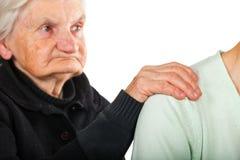 Cuidado idoso Imagens de Stock