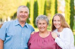 Cuidado idoso Imagens de Stock Royalty Free