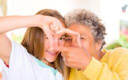 Cuidado idoso Fotografia de Stock