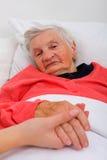 Cuidado idoso Foto de Stock