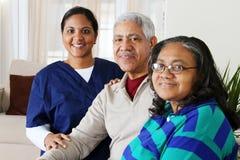 Cuidado médico casero Fotografía de archivo