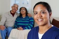 Cuidado médico casero Fotos de archivo libres de regalías