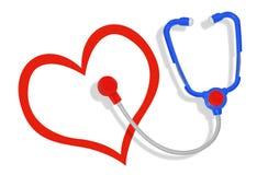 Cuidado médico del corazón Foto de archivo libre de regalías