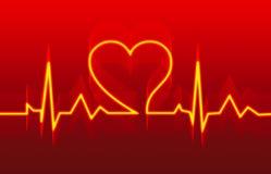 Cuidado médico del corazón en rojo Imagen de archivo libre de regalías