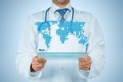 Cuidado médico global Fotos de archivo
