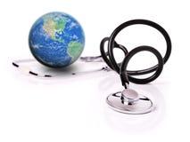 Cuidado médico global Foto de archivo libre de regalías