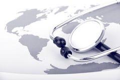 Cuidado médico global Imágenes de archivo libres de regalías