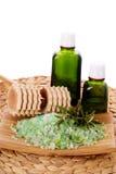 Cuidado orgânico do petróleo e do corpo Fotografia de Stock