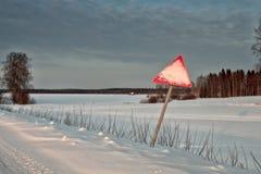 Cuidado para la nieve Fotos de archivo