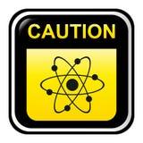 Cuidado - radioativo ilustração stock