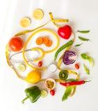 Cuidado sano vegetariano de la comida fresca de la visión superior Foto de archivo libre de regalías