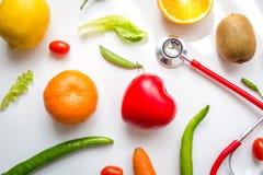 Cuidado sano vegetariano de la comida fresca de la visión superior Fotografía de archivo libre de regalías