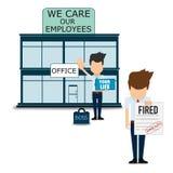 Cuidado sobre empregados, cartaz abstrato do negócio da qualidade super ilustração do vetor