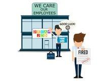 Cuidado sobre empregados, cartaz abstrato do negócio da qualidade super ilustração royalty free