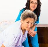 Cuidado social en casa Imagenes de archivo
