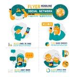 Cuidado social Infographics da família da rede Foto de Stock Royalty Free