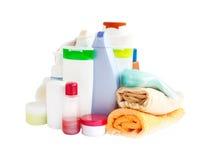 Cuidado y productos del cuarto de baño Imágenes de archivo libres de regalías