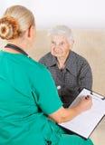 Cuidador e paciente fotografia de stock royalty free