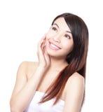 Cuidados capilares da mulher Imagens de Stock Royalty Free