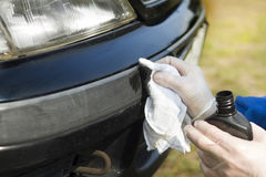 Cuidados com o carro Cola do amortecedor plástico Imagens de Stock