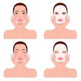 Cuidados com a pele bonitos do ` s da mulher Imagens de Stock Royalty Free