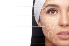 Cuidados com a pele, cosméticos e conceito da composição Fotos de Stock Royalty Free