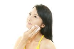 Cuidados com a pele da mulher Foto de Stock