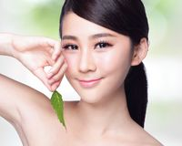 Cuidados com a pele e cosméticos orgânicos Imagens de Stock