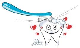 Cuidados dentários ilustração royalty free