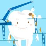 Cuidados dentários dos desenhos animados Fotografia de Stock