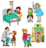 Cuidados médicos ilustração royalty free