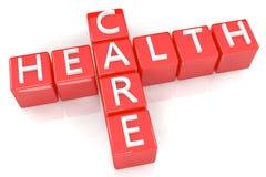 Cuidados médicos das palavras cruzadas Imagem de Stock Royalty Free