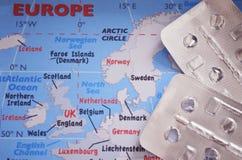 Cuidados médicos de Europa, fim acima fotos de stock royalty free