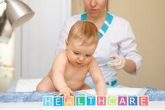 Cuidados médicos e tratamento do bebê. Conceito geral. Imagens de Stock