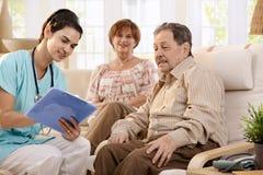 Cuidados médicos em casa Fotos de Stock