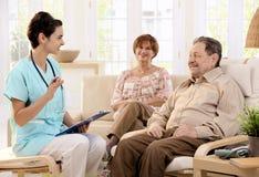 Cuidados médicos em casa Foto de Stock