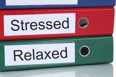 Cuidados médicos forçados e relaxado no conceito do negócio do escritório Imagem de Stock