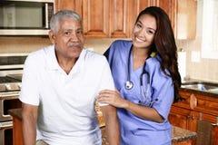 Cuidados médicos home foto de stock royalty free