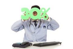 Cuidados médicos na venda, 30% Foto de Stock