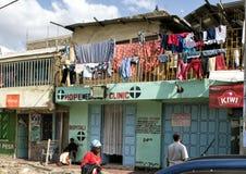 Cuidados médicos nos precários de Mukuru Foto de Stock