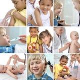 Cuidados médicos das crianças Fotografia de Stock