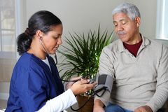 Cuidados médicos Home Imagens de Stock Royalty Free