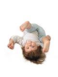 Cuidan en exceso a una niña. Imagen de archivo libre de regalías