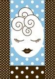 Cuidar la tarjeta de la invitación en exceso de la noche de las muchachas hacia fuera Imagen de archivo