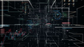 Cuide el cerebro conmovedor, conecte las líneas digitales en el indicador digital, ampliando la línea túnel de la inteligencia ar