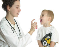 Cuide evaluar al paciente Fotos de archivo libres de regalías