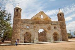Cuilapam de Guerrero (Oaxaca/Mexico), Före detta-kloster av stol för SantiagoApà ³ Arkivbilder
