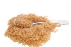 Cuillère à café et sucre Photo stock