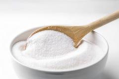 Cuillère avec du sucre Photographie stock libre de droits