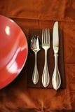 Cuillère, couteau, fourchette Images stock